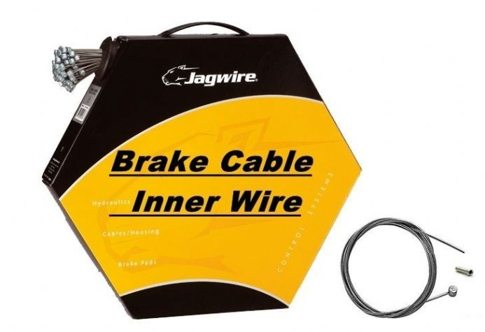 JAGWIRE Inner Bike Brake Cable Wire Barrel Nipple Galvanised, Stainless, Slick
